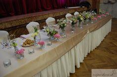 pink roses with cream eustoma and gypsophila Wedding Decorations, Table Decorations, Gypsophila, Wedding 2015, Pink Roses, Wedding Table, Cream, Flowers, Home Decor