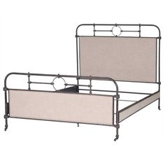*actual* Master Bed $1912!! Four Hands Irondale Berkley Metal King Bed in Palm Ecru and Aged Iron