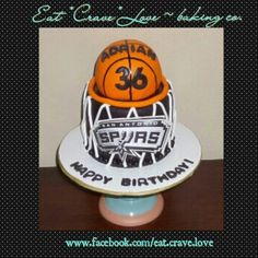 San Antonio Spurs basketball birthday cake