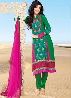 Exotic Green Fashin Salwanr Suit 1107