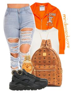 """"""" Boy so what's been on your mind? For me it's just you all the time """" by mindlesspolyvore ❤ liked on Polyvore featuring Moschino, Elizabeth and James, Minnie Grace, Casetify, MCM, Rolex, Marc by Marc Jacobs and NIKE"""