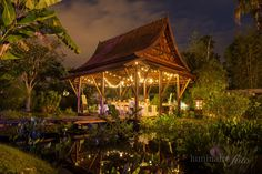 Small Dinner Reception In Our Tai Pavillion Located The Asian Garden Naples Botanical