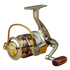 WinnerEco Aluminum Spool Spinning Reel 10BB EF5000 Series Fishing Reels with 5.5:1 Gear Ratio ** Read more reviews of the product by visiting the link on the image.