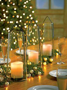 Acadia Glass Lantern - LED Pillar Candle Holder