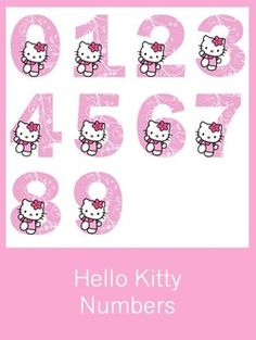 Hello Kitty Numbers - FREE PDF Download