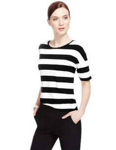 Short Sleeve Striped Top | M&S