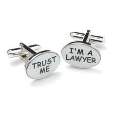 Manchetknopen Trust Me/Lawyer