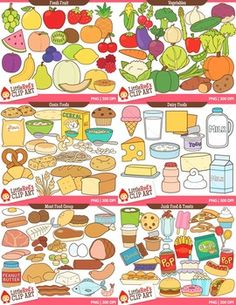 Clip Art - Big Food Bundle - 243 food-themed clipart graphics $