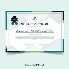 Modern certificate template in flat design Free Vector Certificate Layout, Certificate Border, Certificate Of Completion Template, Certificate Background, Certificate Of Achievement Template, Education Certificate, Certificate Design Template, Certificate Frames, Free Certificates