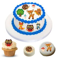 Cake Stickers | Woodland Animals Cake Stickers | Woodland Animals Cake Topper | Woodland Animals Cake | Woodland Animals Cupcakes | Woodland Animal Cookies | Woodland Animals Oreos | Woodland Animals Brownies | Woodland Baby Party Supply | Woodland Baby Shower Woodland Baby, Woodland Animals, Animal Cupcakes, Cake Sizes, Oreos, Baby Party, Corn Syrup, Cake Toppers, Party Supplies