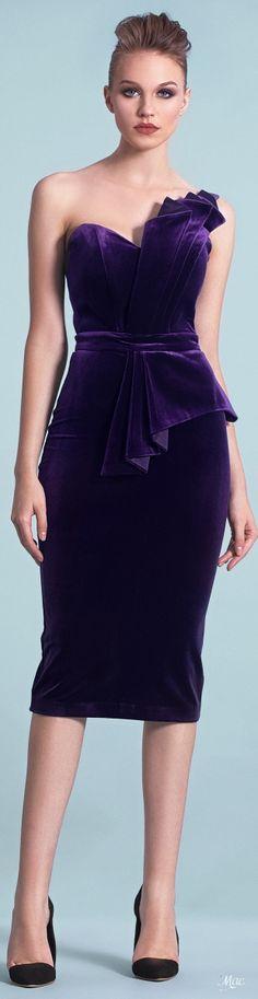 Velvet Fashion, Purple Fashion, High Fashion, Womens Fashion, Elegante Y Chic, Peplum Dress, Dress Up, Cute Dresses, Formal Dresses