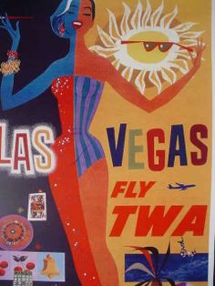 1960s TWA Las Vegas travel ad