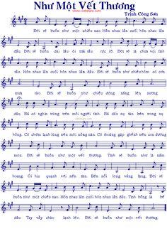 Như Một Vết Thương - Music Sheet