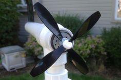 Build a Simple Backyard Wind Turbine #DIY