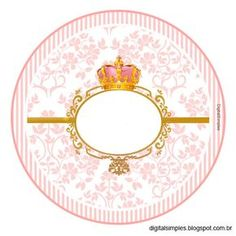 "Custom Kit Theme ""Crown Pink Girl"" for Print - Digital Single Invitations"