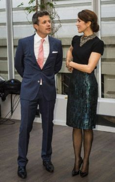 Danish Crown Prince Frederik and Crown Princess Mary attending a reception at…