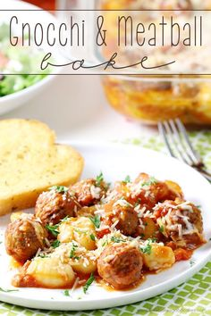 - This Gnocchi and Meatball Bake is perfect for a weeknight dinner and can be special enough to serve to company! #MyTuscanTable #ad