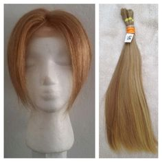 Custom designed topper made with 100% virgin, blond hair. Get the thick hair you always dreamed of!