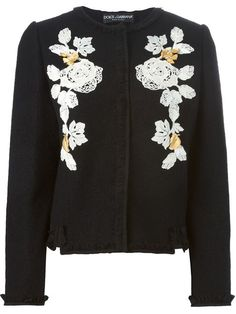 Dolce & Gabbana Chaqueta Con Rosas Bordadas - Spinnaker 141 - Farfetch.com