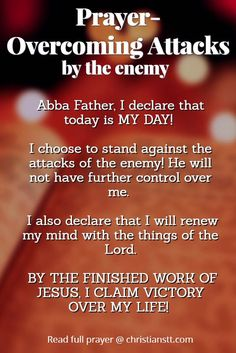 Prayer when attacked by the enemy
