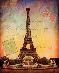 Vintage Travel Eiffel ....