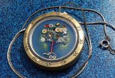 Tree necklace made from watch guts on Etsy, $64.00