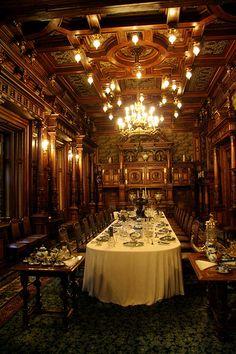 Dining Ambiance at Peles Castle ~ Carpathian Mountains, near Sinaia, Romania