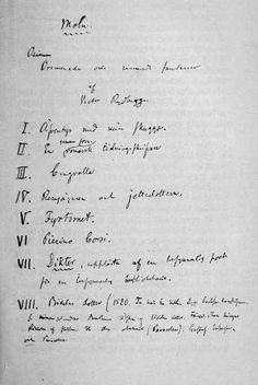 Förteckning från troligen 1858 över novellutkast och fragment. Singoalla märks som nummer 3.