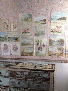 Pastelblonde:    watercolor wall by Rachel Ashwell