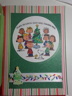 #christmascard #card #papercrafting #cardmaking #stamping #winter #christmas #peanuts #snoopy #christmastree