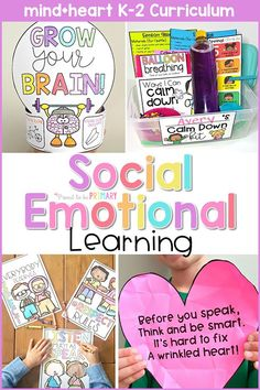 Find all your social emotional development classroom needs in one huge resource filled with 8 units, lesson plans, activities, and games for the Kindergarten, first grade, and second grade classroom. Teach social skills and engage kids in learning about respect, feelings, empathy, growth mindset, responsibility, self regulation, kindness, and friendship. #socialemotionallearning #kindnessactivities #growthmindset #socialskills #charactereducation