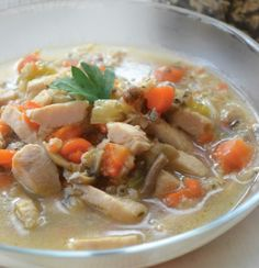 Canadian Chicken Soup with Wild Rice and Mushroom Soup