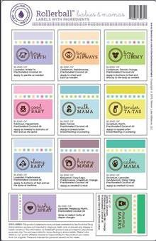 Rollerball Babies & Mamas Series (Sheet of 11 labels) with Recipe Sheet - My Oil Gear