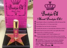Bootzie Oil - impossible to resist!  Made in Maui- AVAILABLE NOW @ C&L