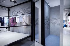 POP-UP! Colette  pop-up shop, Paris.  The sketch characters will work in e's room