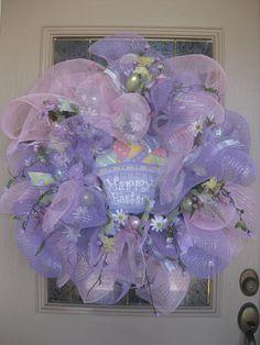 Kristen's Creations: ~~Easter Mesh Wreath Tutorial~~