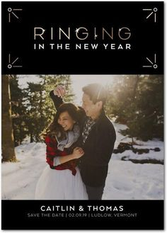 Ringing in the New Year Save the Date | Wedding Paper Divas