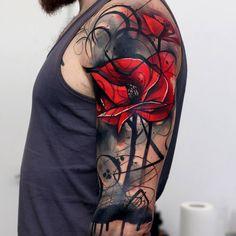 Poppies arm tattoo