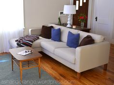Entry way, smaller coffee table, stained legs