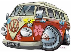 vw bus cartoon pictures | Recent Photos The Commons Getty Collection Galleries World Map App ...