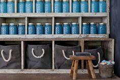 DIY Mason Jar shelving unit   Emily Henderson