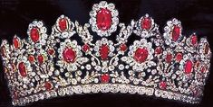 ruby and diamond tiara, part of the French Crown Ruby and Diamond Parure, made in 1816
