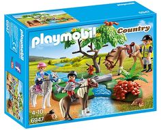Playmobil - 6947 - Cavaliers + Poney et Cheval Play Mobile, Playmobil Country, Collection Playmobil, Custom Lps, Playmobil Sets, Walking Horse, Interactive Toys, Deep Sea Fishing, Horses