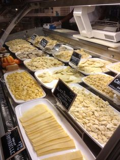 Eataly. NYC 2013. Fresh pasta counter. #eatalynyc #bucketlist #scrumptousfood