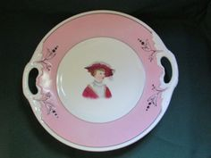 Antique Rorstrand Porcelain Portrait Plate Victorian Edwardian Woman Sweden Rare #Rorstrand #Rorstrand