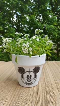 potflowerpotplanterdisney pothandmade potpot for
