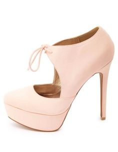 Tied Mary Jane Platform Pumps: Charlotte Russe
