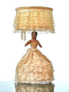 Vtg Bride/Dancer Figural Doll Chalkware/Plaster Lamp w/Lace Dress Wedding/Ball I saved my lunch money in grade tp buy my mum this lamp and put it on layaway. Blinded By The Light, Half Dolls, Plaster, Dress Wedding, Light Up, Lace Dress, Lunch Money, Dancer, Bride