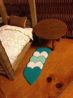 Dollhouse Small Carpet  Homemade Punch Needle by EightBoardsFarm, $28.00