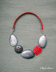 polymer clay necklace by Olga Ledneva